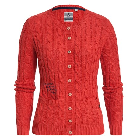 Gaastra-Cardigan-Cable-line-Red-1